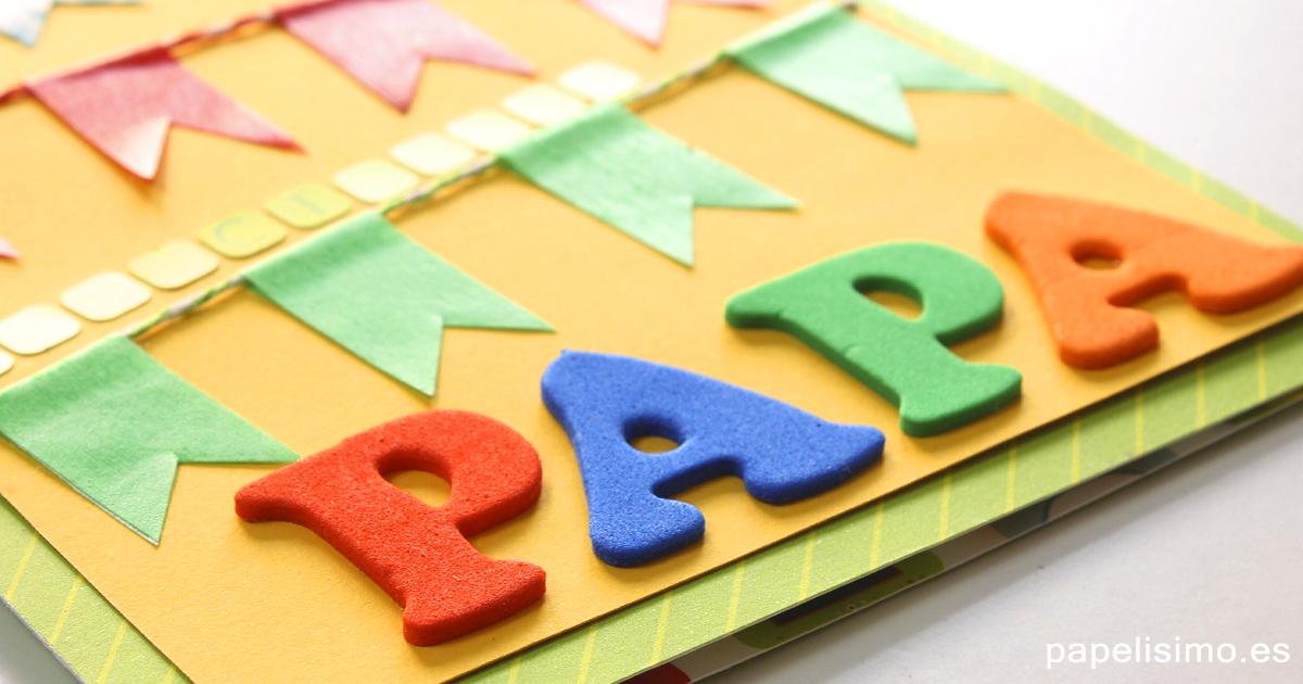 Tarjetas con letras de goma eva manualidades - Manualidades de goma eva para cumpleanos ...