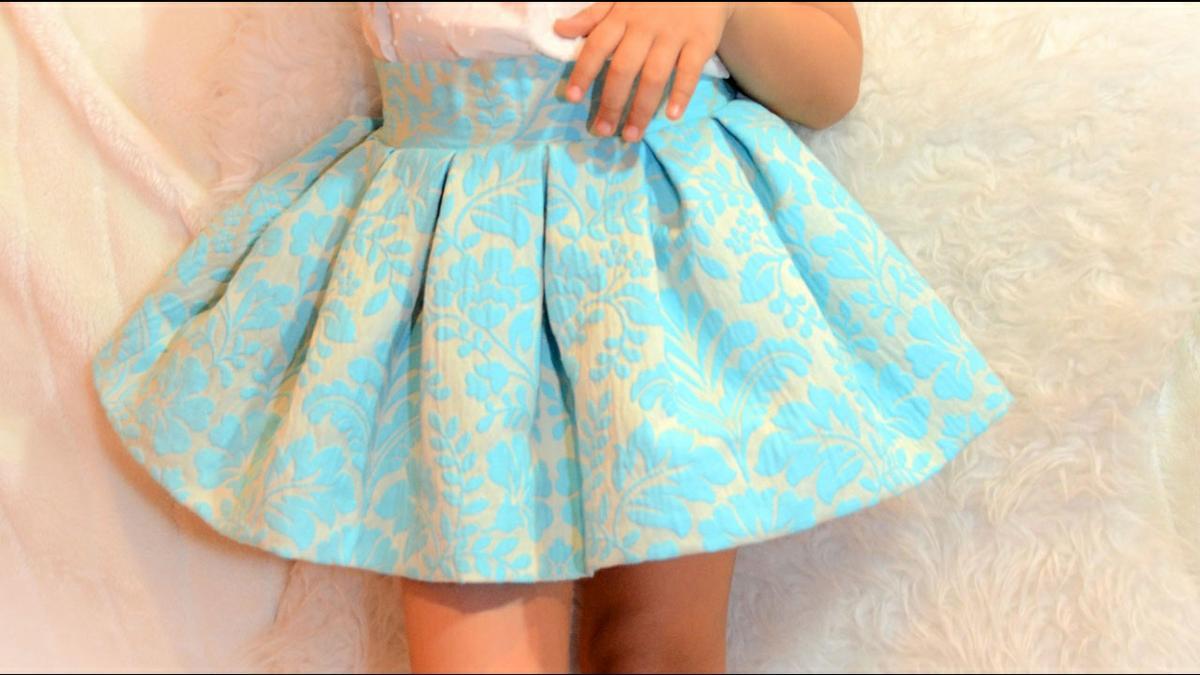 Tutorial de costura: conjunto de falda midi para niña