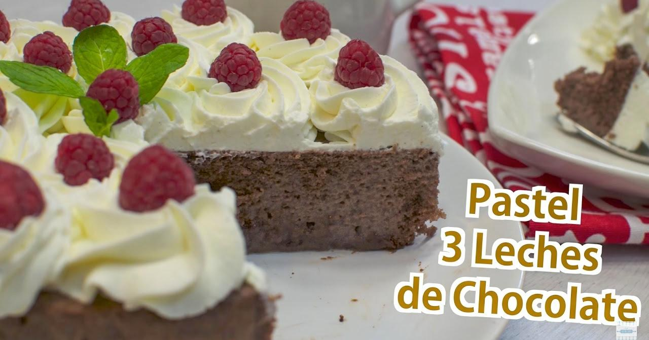 Pastel 3 leches de chocolate