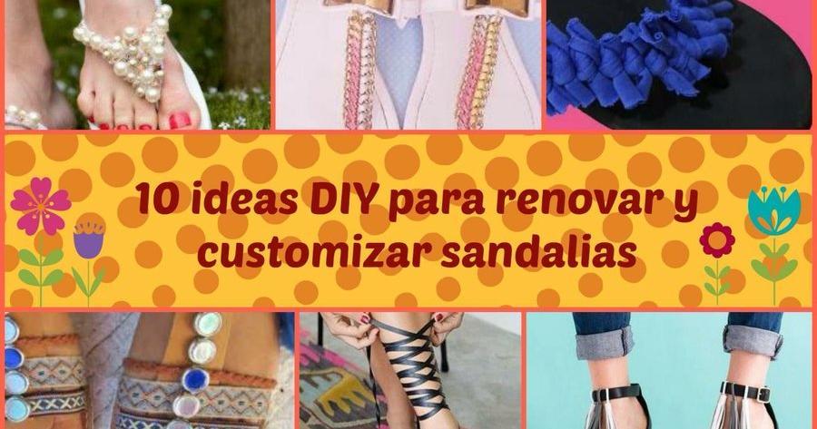 10 ideas diy para renovar y customizar sandalias manualidades solutioingenieria Images