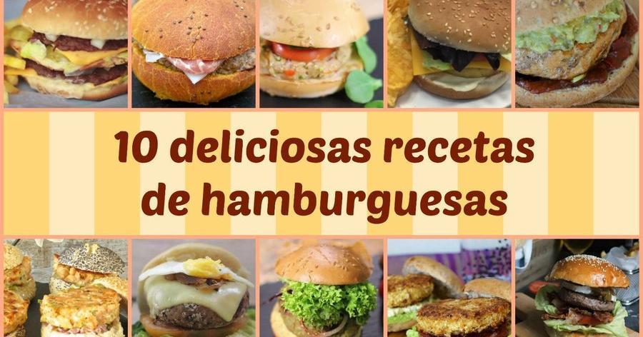 10 deliciosas recetas de hamburguesas
