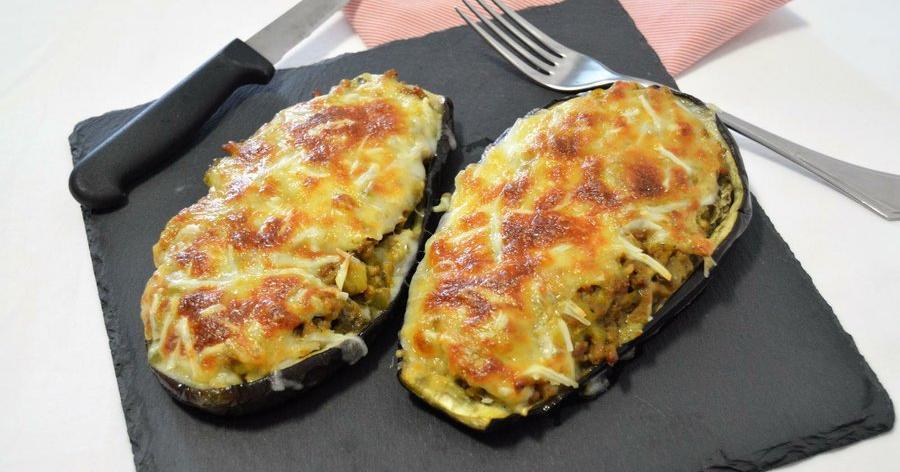 Berenjenas rellenas de carne al curry cocina for Cocina berenjenas rellenas