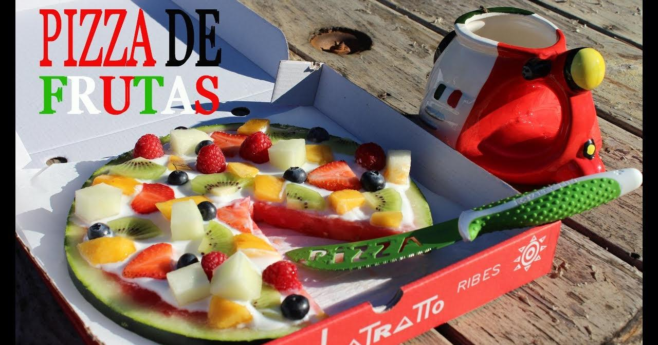 Una pizza para tomar como postre...¡y es muy sana!