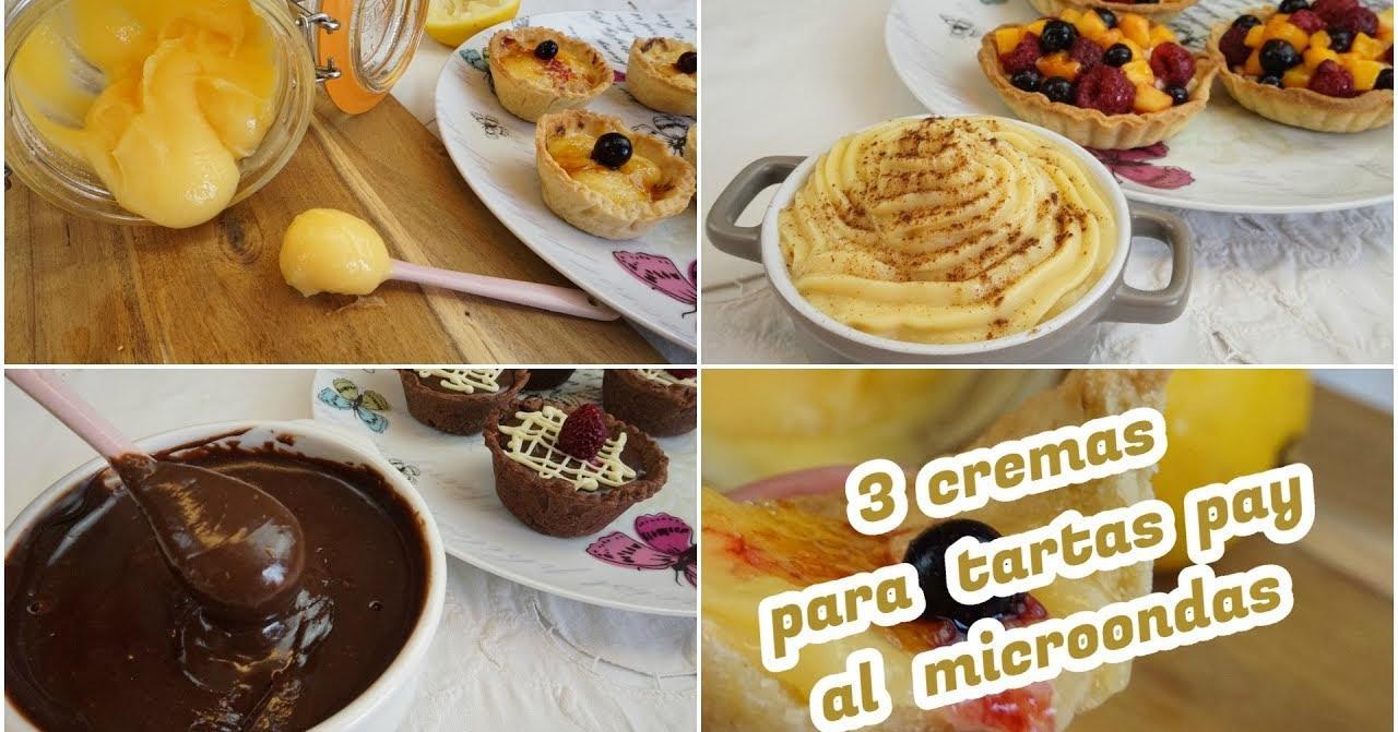 3 cremas al microondas para rellenar tus tartas cocina for Cocina al microondas