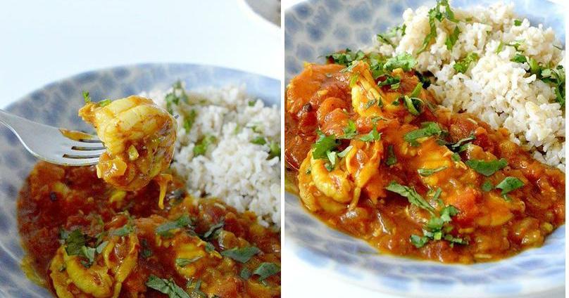 Curry de gambas, paso a paso