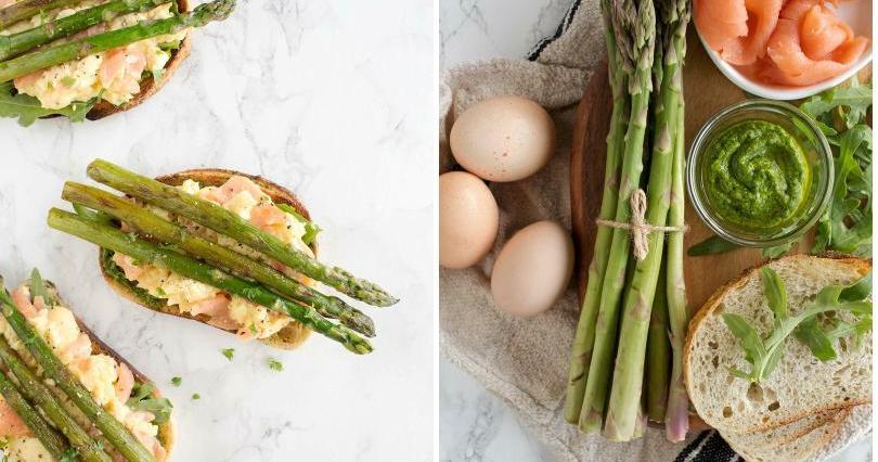 Huevos revueltos con salmón y trigueros