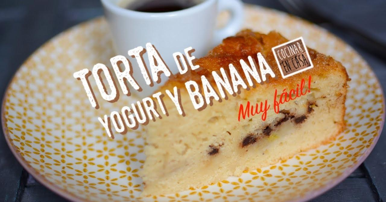 Torta de yogurt y banana