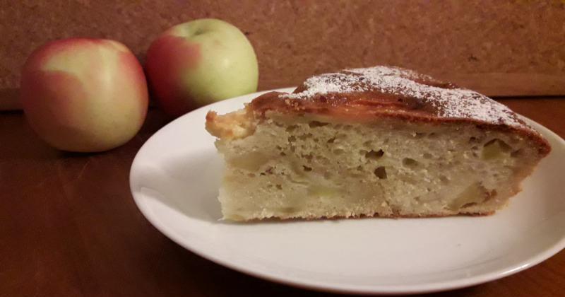 Tarta de manzana sin materia grasa, ¡genial!