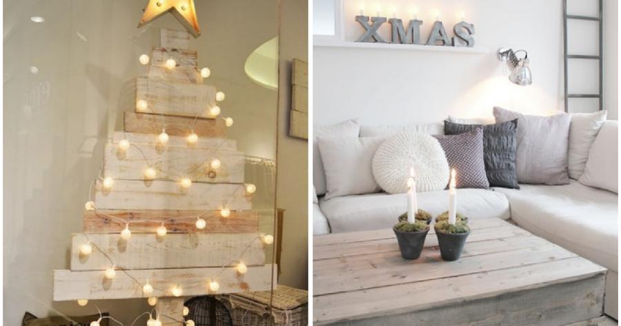 Decora tu casa con pal s y madera bienvenida navidad decoraci n - Decoracion casas de madera ...