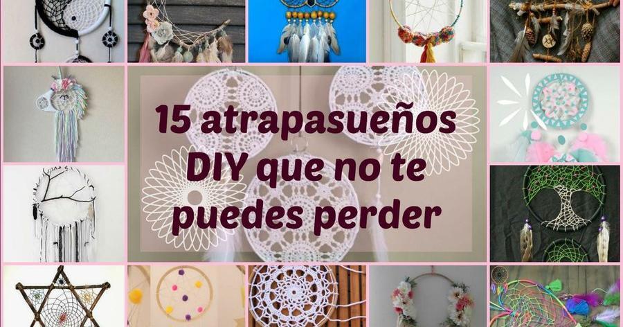 Atrapasueños DIY con todo tipo de materiales