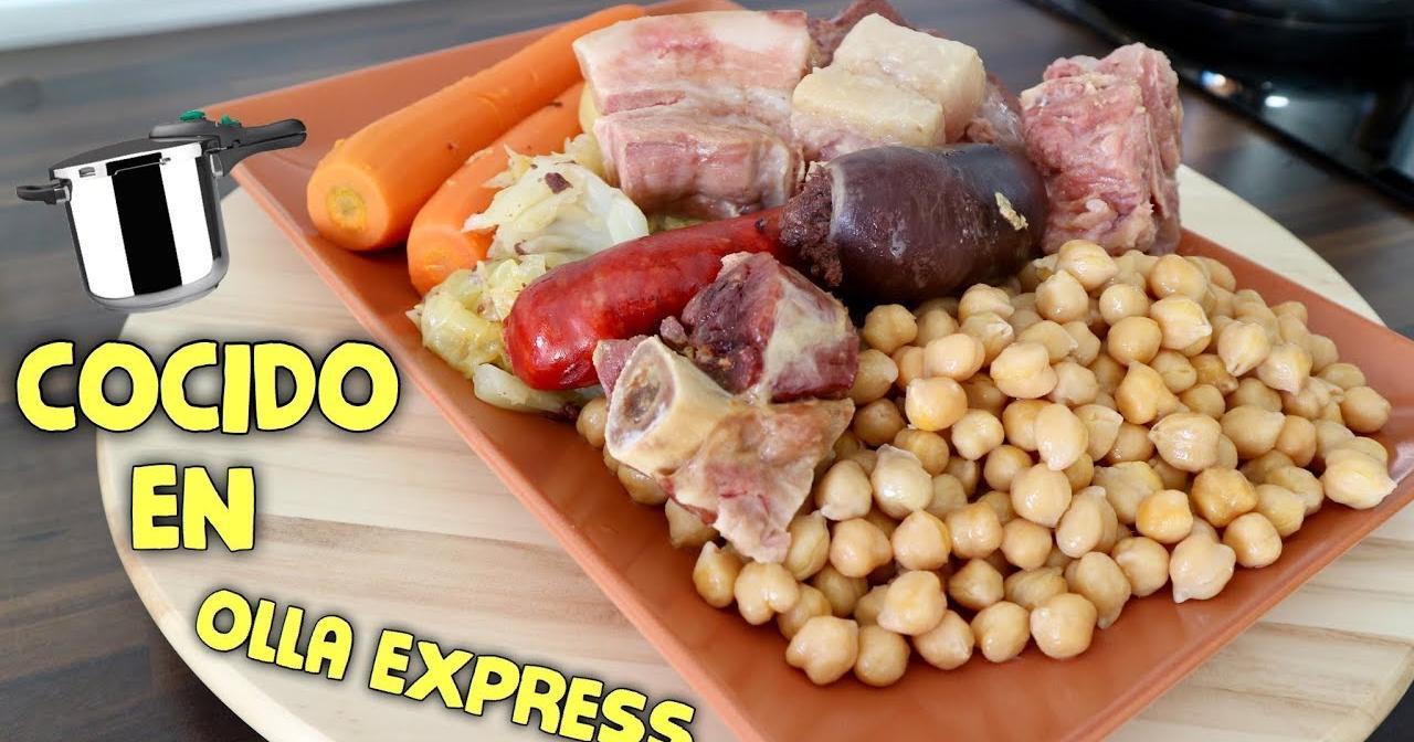 Cocido madrile o en olla express cocina - Cocido en olla express ...
