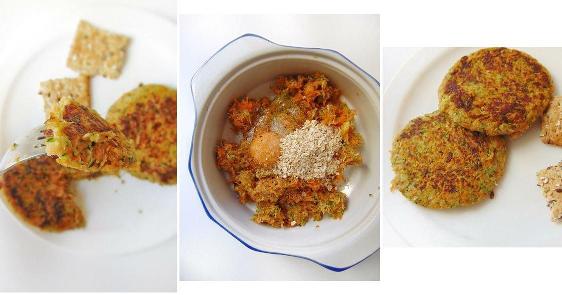 Tortitas de zanahoria y calabacín: una receta para cenar sano