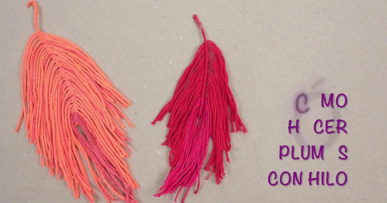 Cómo hacer plumas con hilo | Manualidades