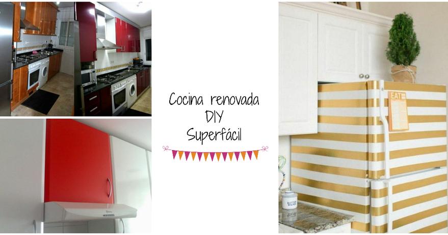Cómo reformar tus muebles de la cocina sin pintarlos y gastando ...