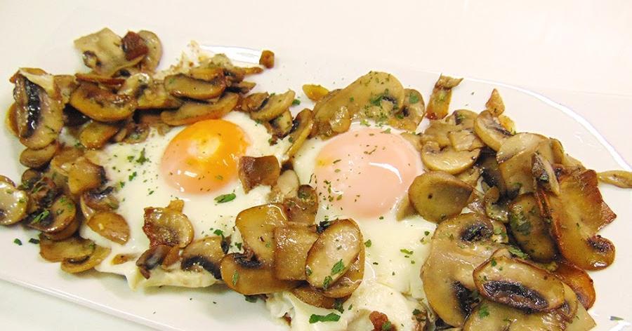 Champiñones salteados con huevo ¡Una cena rápida y rica!