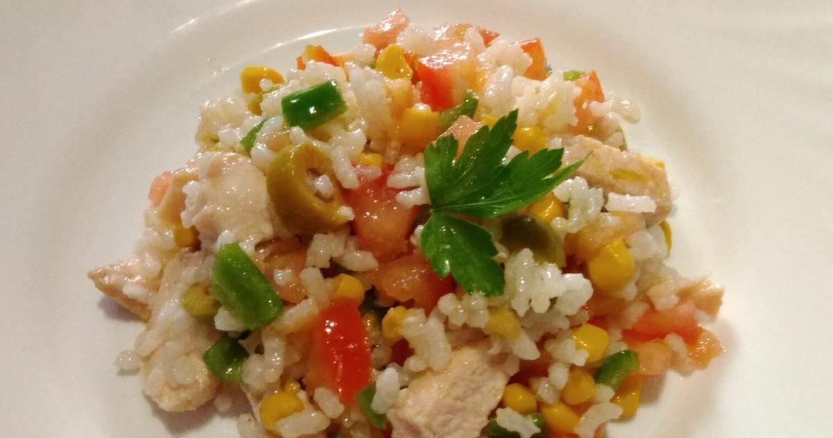 Ensalada de arroz con pavo ¡Viva el verano!