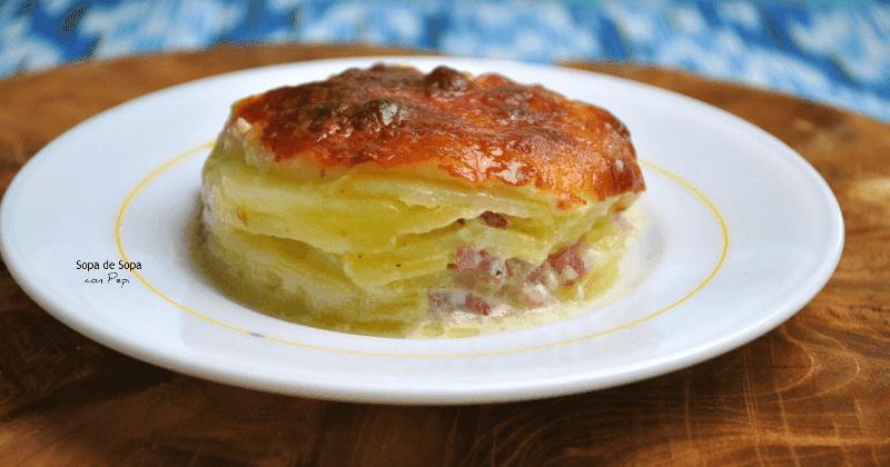 Nada mejor que estas patatas gratinadas con jamón