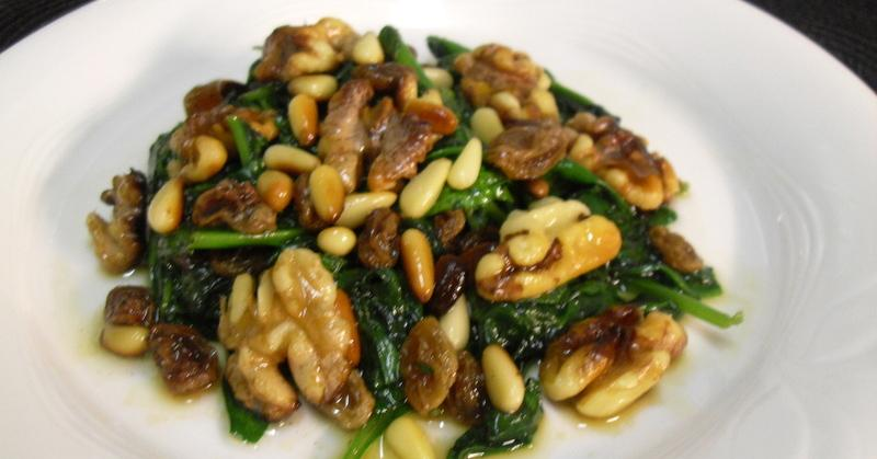Espinacas con frutos secos: la receta definitiva