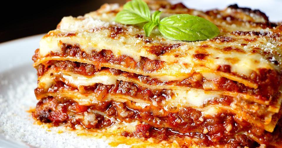 No te defraudará: lasagna original