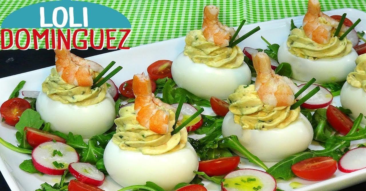 La mejor idea de huevos rellenos con gambas y además el truco para pelar los huevos cocidos
