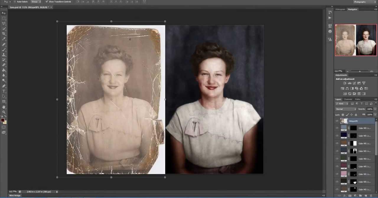 Cómo restauran y dan vida a las fotografías deterioradas los grandes artistas del Photoshop
