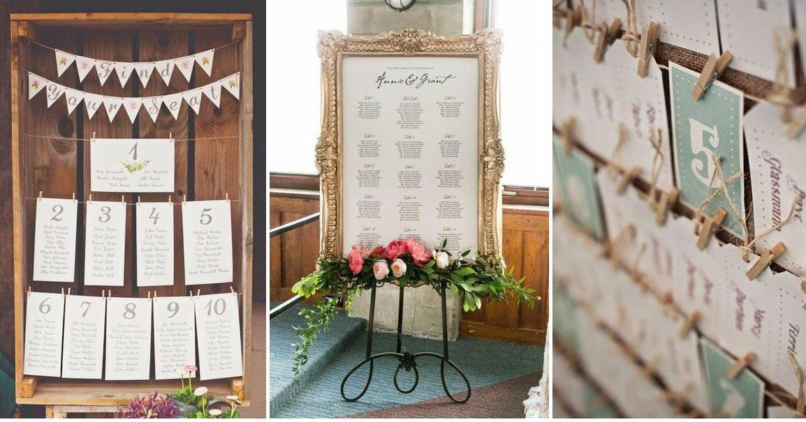 Ideas para el Seating Plan, ¡sorprende a tus invitados!