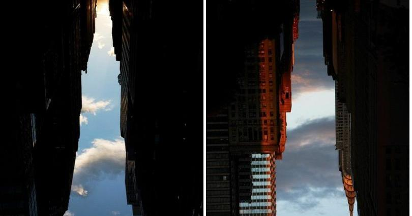Mareantes fotos de los rascacielos de Nueva York
