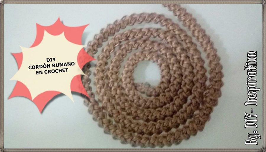 DIY: cordón rumano en crochet | Manualidades