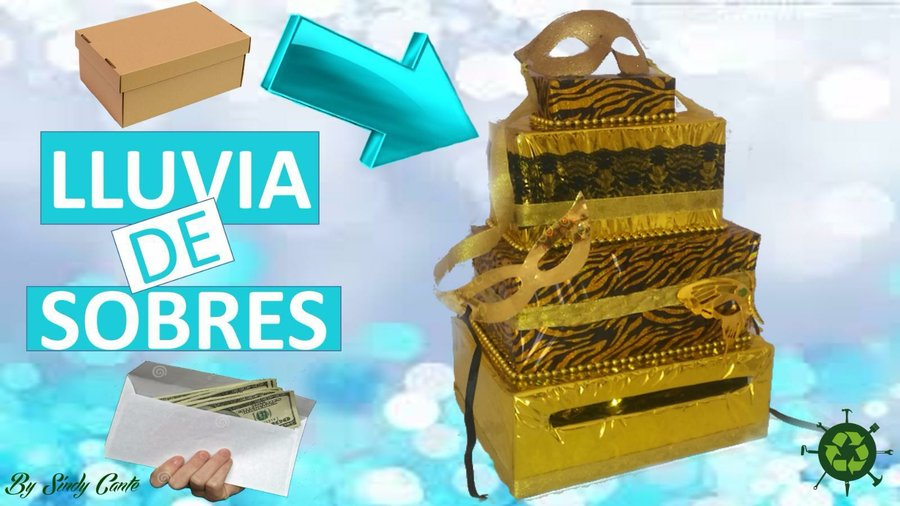Aprende c mo hacer una caja para lluvia de sobres y for Como hacer cajas para regalos de boda