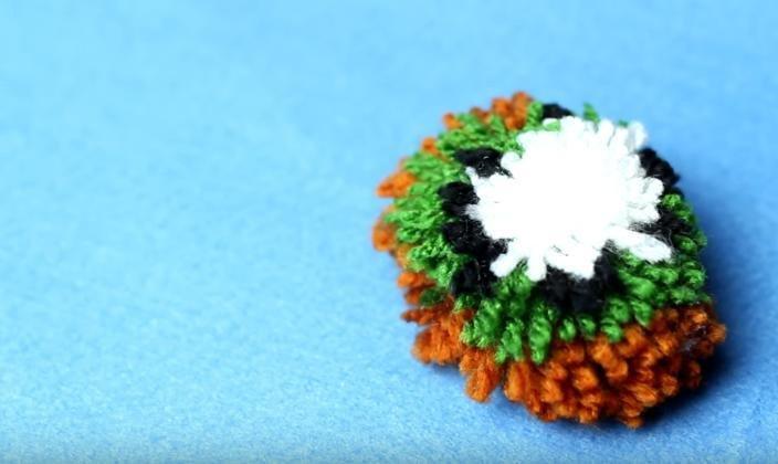 Como Hacer Un Pompon Con Forma De Kiwi Manualidades - Como-hacer-manualidades-con-lana