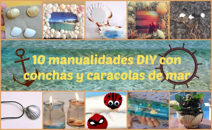10 manualidades DIY con conchas y caracolas de mar | Manualidades