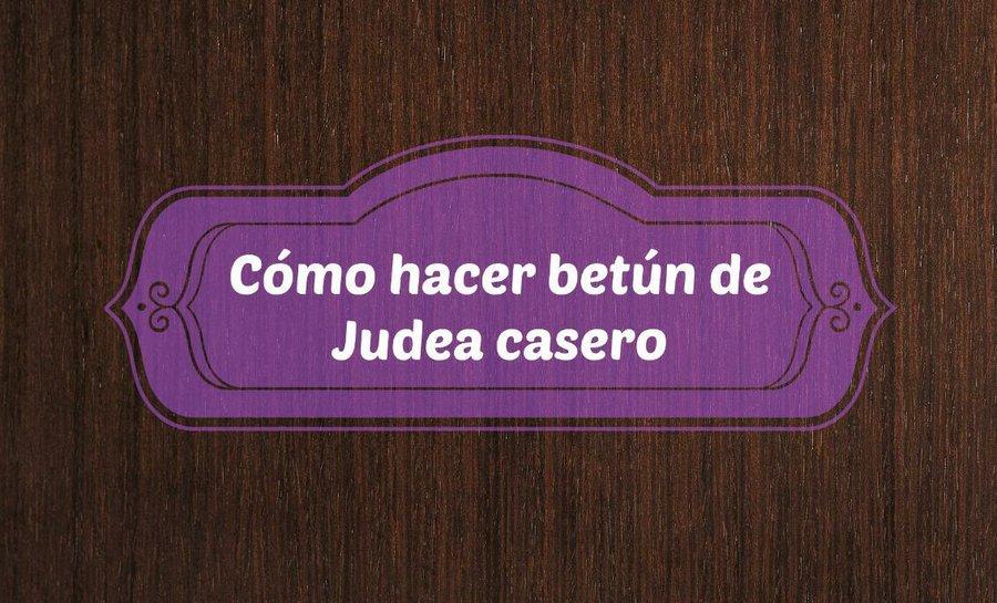 Cómo hacer betún de judea casero