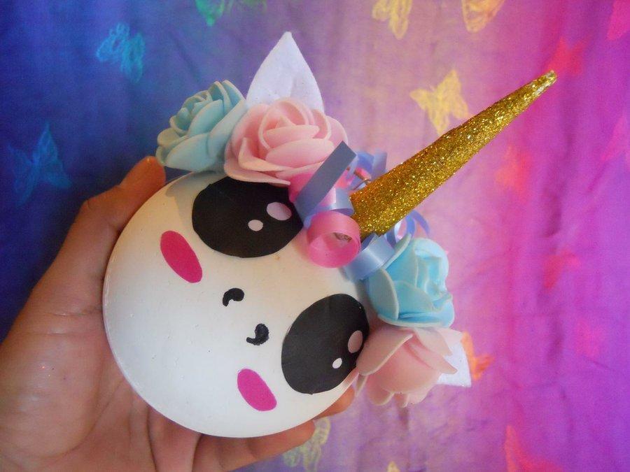 C mo hacer esferas navide as de unicornio manualidades - Hacer cosas para navidad ...