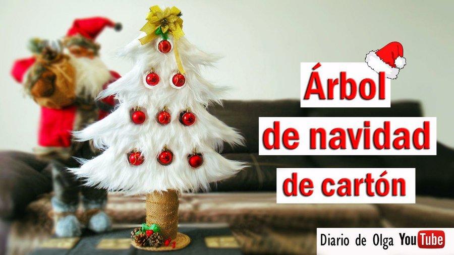 Aprende c mo hacer un rbol de navidad con tubos de cart n - Decoraciones navidenas con reciclaje ...
