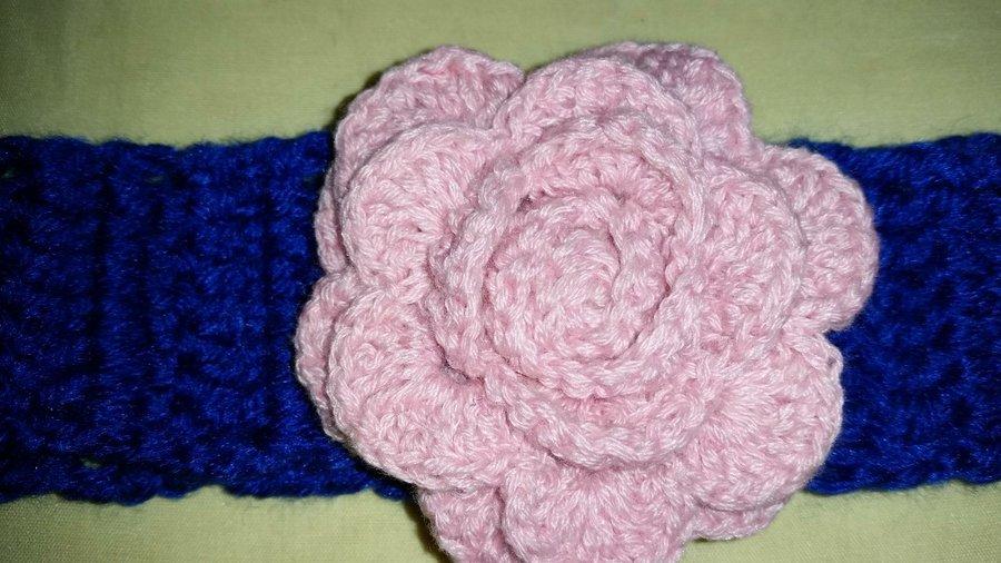Diadema a crochet para niñas de 3 a 4 meses | Manualidades