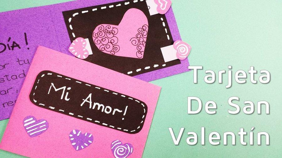 Tarjeta con botones para San Valentín | Manualidades