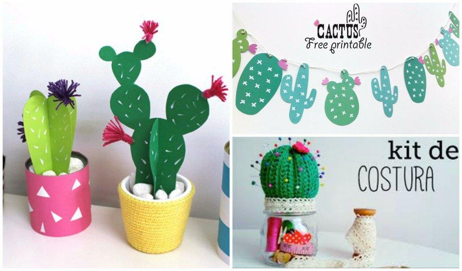 Cactus en tela, papel, cartón, crochet y más ! | Manualidades
