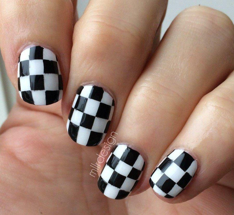15 dise os espectaculares de u as a blanco y negro para - Blanco y negro paint ...