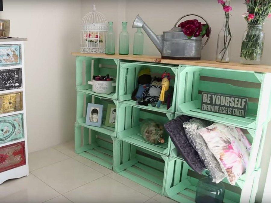 C mo montar un vestidor con cajas de fruta bricolaje for Muebles con cajas de madera