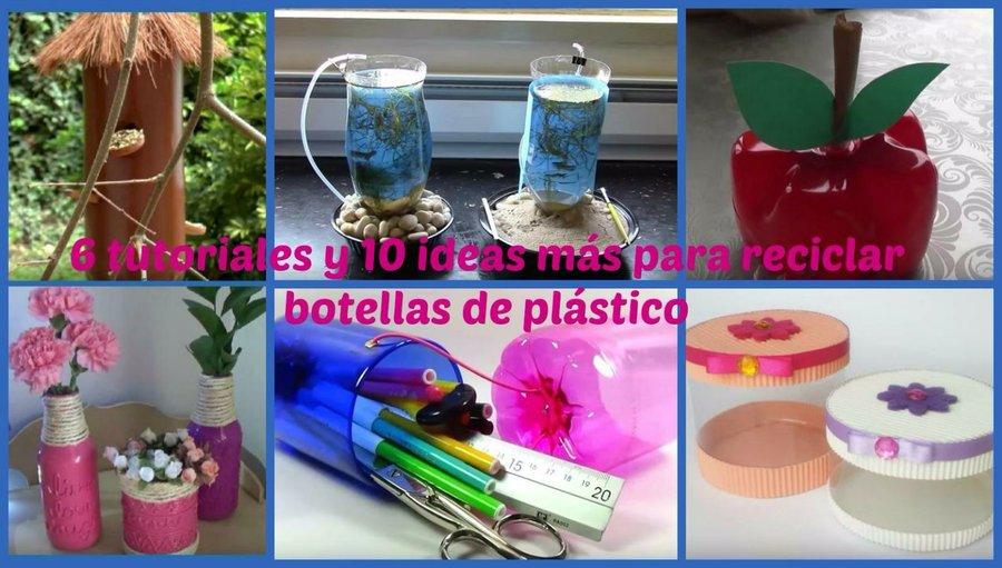 Objetos con botellas recicladas for Objetos decorativos para el hogar