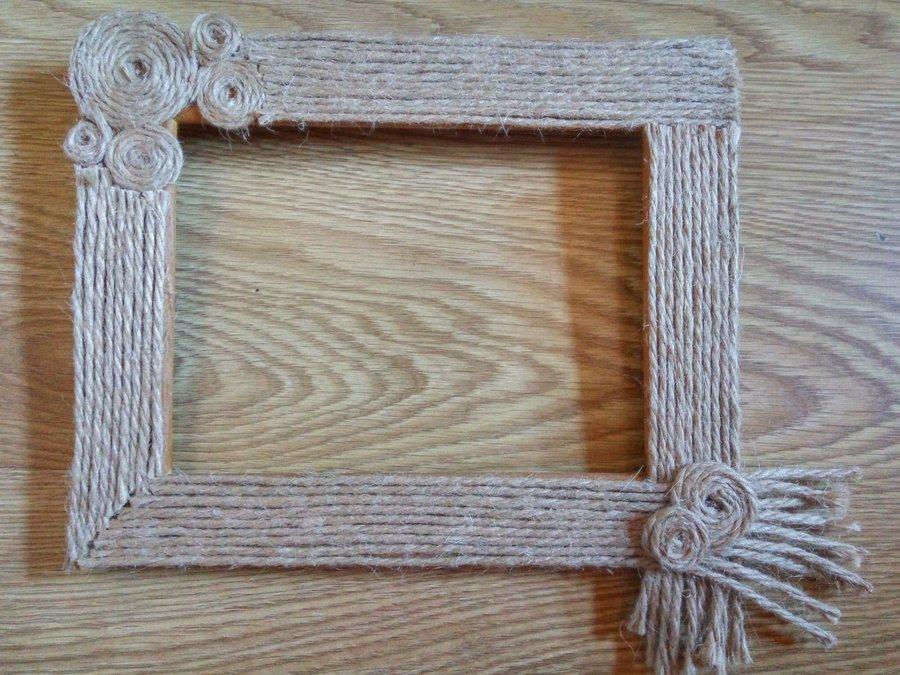 Diy marcos forrados con cuerda manualidades - Tipos de cuerdas ...