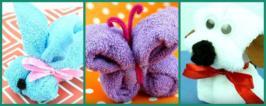 Aprende a doblar toallas con formas de animales | Manualidades
