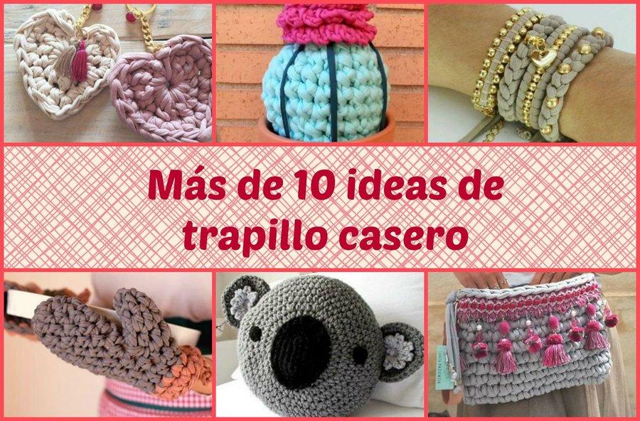 20 ideas para hacer con trapillo tutoriales incluidos - Como hacer alfombras con trapillo ...