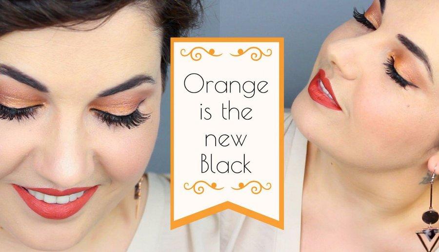 maquillaje en tonos naranja paso a paso