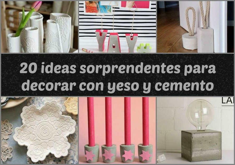 20 ideas sorprendentes para decorar con yeso y cemento - Ideas decoracion pintura ...
