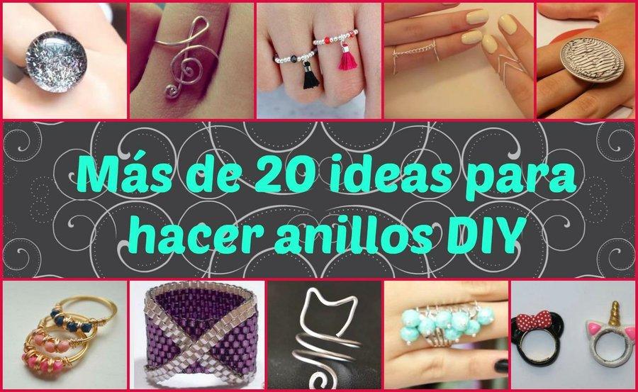 Más de 20 ideas para hacer anillos DIY   Manualidades