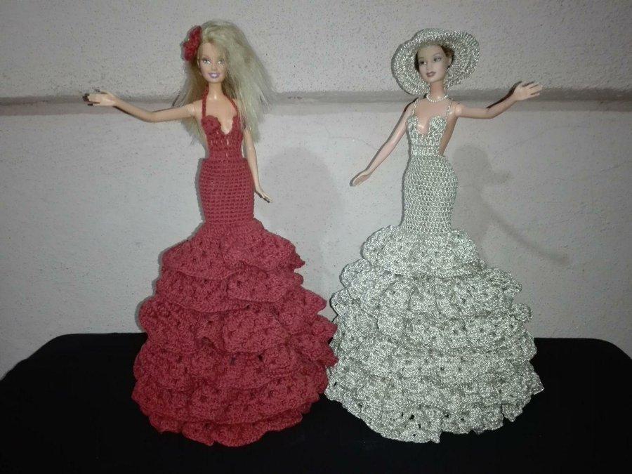 Vestido para barbie tejido a crochet manualidades - Cosas para hacer de ganchillo ...