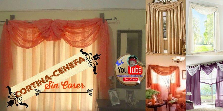 Cenefas Para Cortinas Sin Coser Diy Manualidades - Cenefas-para-cortinas-de-sala