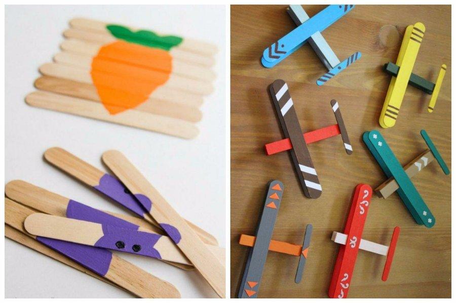 20 manualidades en familia con palitos de madera