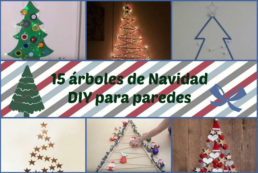 15 rboles de Navidad DIY para paredes Manualidades